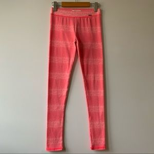 NWOT Abercrombie &Fitch Hot-Pink Stripped Leggings